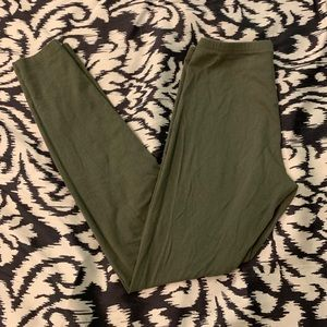 Charlotte Russe olive green leggings